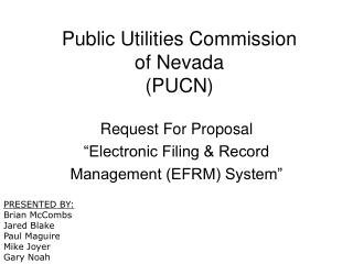 Public Utilities Commission of Nevada PUCN