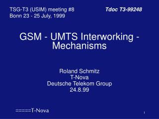 GSM - UMTS Interworking - Mechanisms