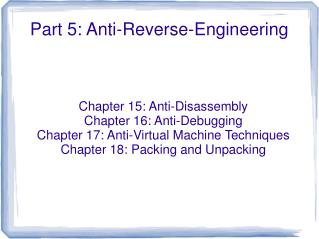 Part 5: Anti-Reverse-Engineering