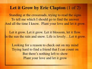 Let it Grow by Eric Clapton  (1 of 2)
