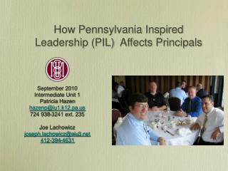 How Pennsylvania Inspired Leadership (PIL) Affects Principals