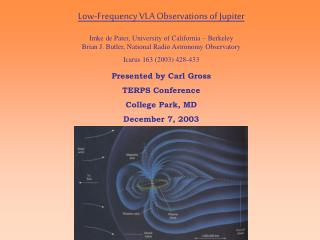 Low-Frequency VLA Observations of Jupiter