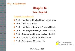 T14.1   Chapter Outline