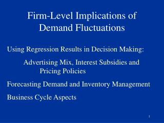 Firm-Level Implications of Demand Fluctuations