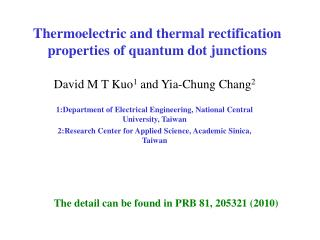 Thermoelectric and thermal rectification properties of quantum dot junctions