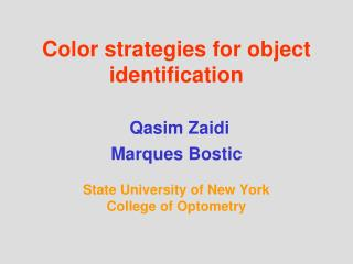 Color-Based Object Identification