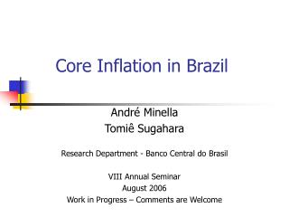 Core Inflation in Brazil