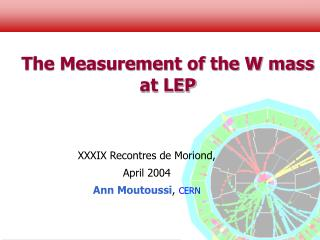 The Measurement of the W mass at LEP