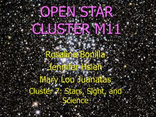 OPEN STAR CLUSTER M11