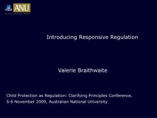 Introducing Responsive Regulation