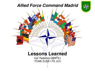 Lessons Learned Cpt. Federico GENTILI  FCMD DJSE1 FE JCC