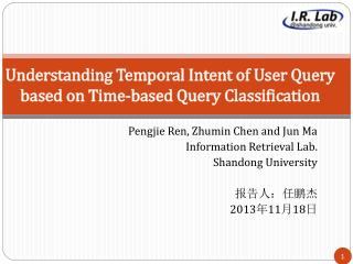Understanding Temporal Intent of User Query  based on Time-based Query Classification