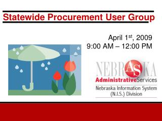 Statewide Procurement User Group
