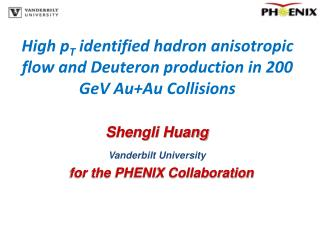 High p T  identified hadron anisotropic flow and Deuteron production in 200 GeV Au+Au Collisions