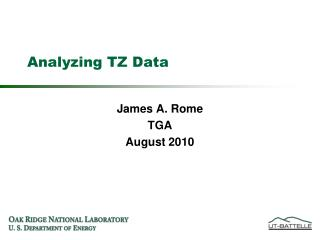 Analyzing TZ Data