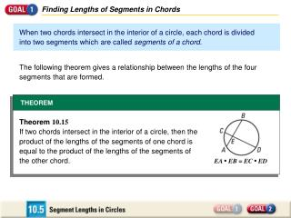 Finding Lengths of Segments in Chords