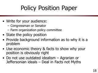 Policy Position Paper