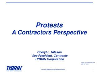 Protests  A Contractors Perspective