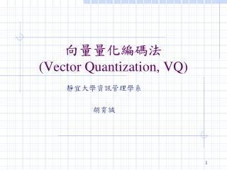 向量量化編碼法 (Vector Quantization, VQ)