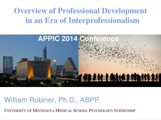 Overview of Professional Development  in an Era of Interprofessionalism