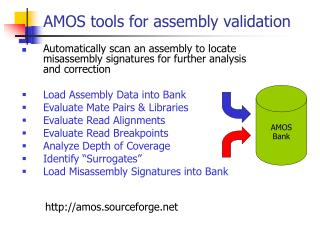 AMOS tools for assembly validation