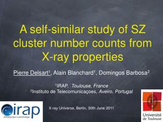 A self-similar study of SZ cluster number counts from X-ray properties