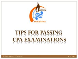TIPS FOR PASSING  CPA EXAMINATIONS