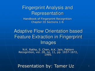 Fingerprint Analysis and Representation