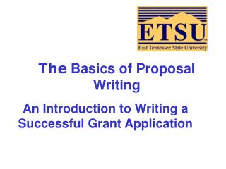 The  Basics of Proposal Writing