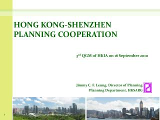 HONG KONG-SHENZHEN PLANNING COOPERATION