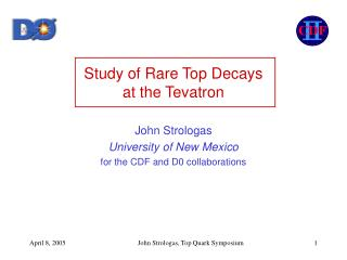 Study of Rare Top Decays  at the Tevatron
