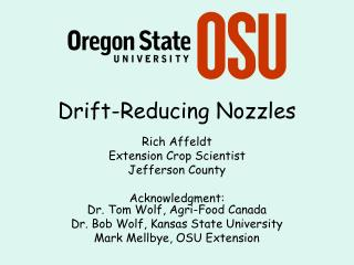 Drift-Reducing Nozzles