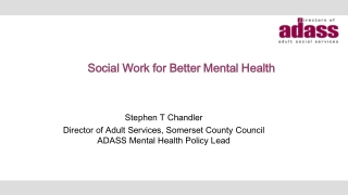 CPA Personalisation in Adult Mental Health