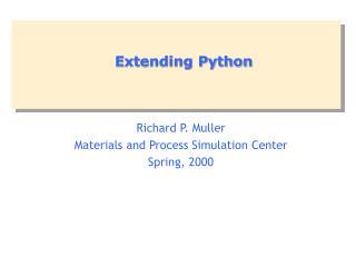 Extending Python