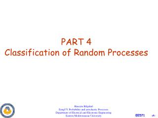 PART 4 Classification of Random Processes