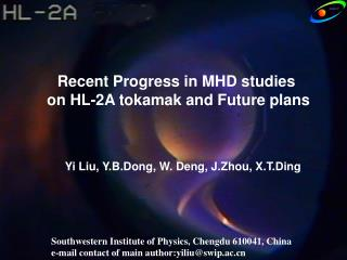 Recent Progress in MHD studies  on HL-2A tokamak and Future plans