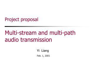 Project proposal Multi-stream and multi-path audio transmission