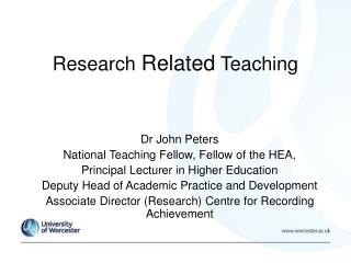 Research Related Teaching