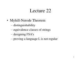 Lecture 22