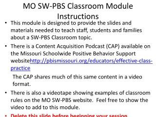 Effective Classroom Practice : Procedures Routines