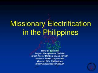 Missionary Electrification in the Philippines