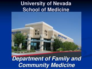 University of Nevada  School of Medicine