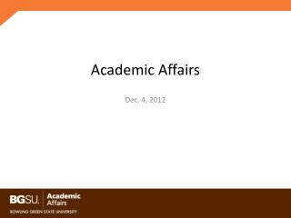 Academic Affairs
