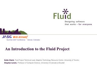 An Introduction to the Fluid Project