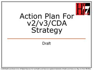 Action Plan For v2/v3/CDA Strategy