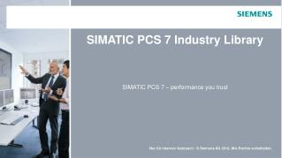 SIMATIC PCS 7 Industry Library