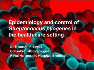 Epidemiology and control of  Streptococcus pyogenes  in the health care setting