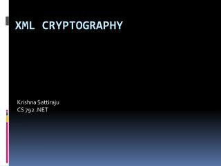 XML Cryptography