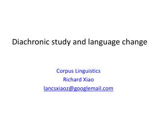 Diachronic study and language change