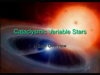 Cataclysmic Variable Stars